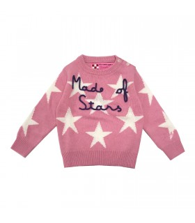Mc2 Saint Barth maglione rosa stelle