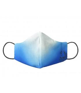 Marinella Galloni mascherina azzurra sfumata