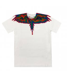 Marcelo Burlon Kids of Milan t-shirt bianca ali