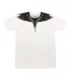 Marcelo Burlon Kids of Milan t-shirt bianca ali mini logo