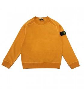 Stone Island junior felpa arancio girocollo