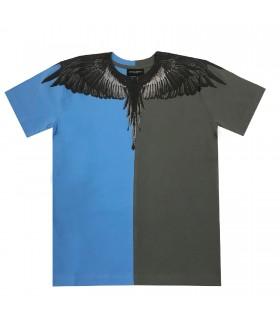 Marcelo Burlon Kids of Milan t-shirt grigia bicolor