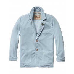 SCOTCH SHRUNK BLAZER AZZURRO