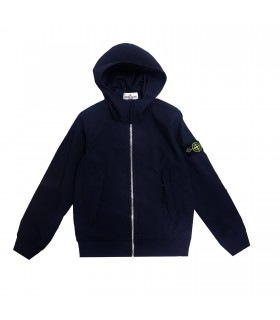 Stone Island Junior giacca softshell blu