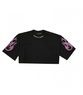 Vision of Super t-shirt cropped viola