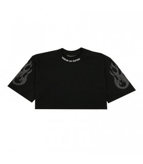 Vision of Super t-shirt cropped nera