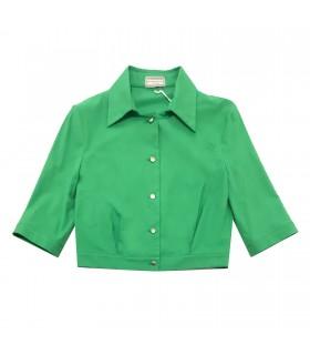 Camicia Top  verde di Marinella Galloni Fashion Designer