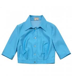 Camicia Top Turchese di Marinella Galloni Fashion Designer