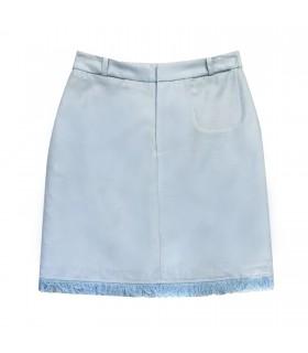 Gonna Azzurra Frange di Marinella Galloni Fashion Designer