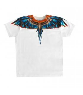 T-shirt Blue Grizzly WingsWings di Marcelo Burlon Kids Of Milan