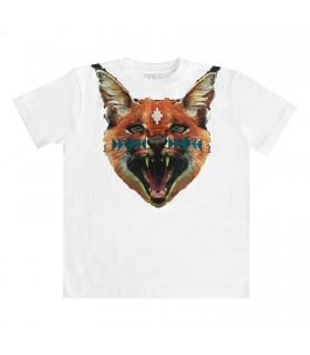 T-shirt Cross Caracal di Marcelo Burlon Kids Of Milan