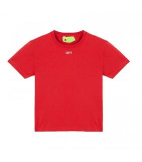 "T-shirt Rossa  "" Off "" di Off White"