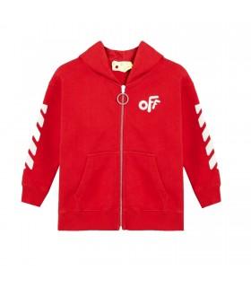 """Felpa """"Off """" Rossa di Off- White"""