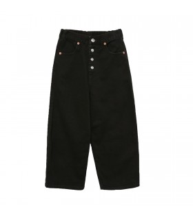 Jeans Cropped Nero di MM6 Maison Margiela