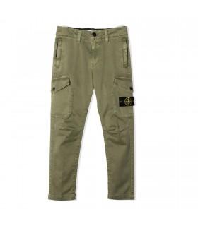 Pantalone Cargo Verde Militare di Stone Island Junior
