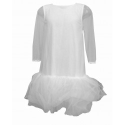 DOUUOD KIDS ABITO IN TULLE BIANCO