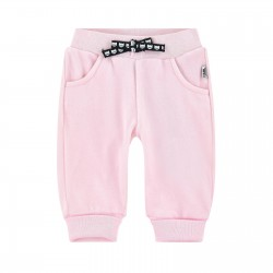 KARL LAGERFELD KIDS PANTALONI JOGGINGS IN CINIGLIA  ROSA