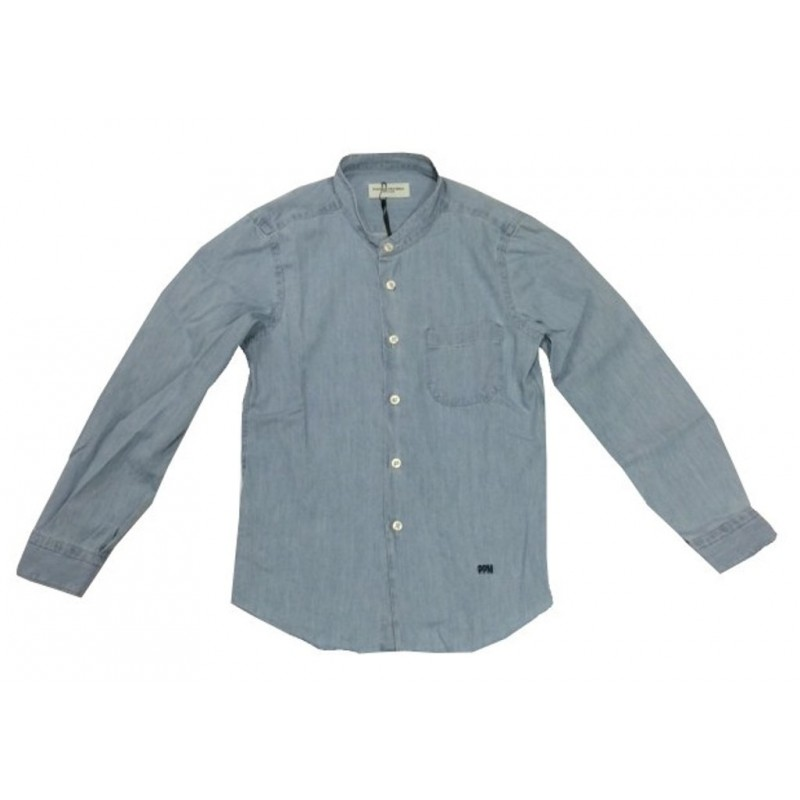 PAOLO PECORA KIDS CAMICIA IN CHAMBRAY