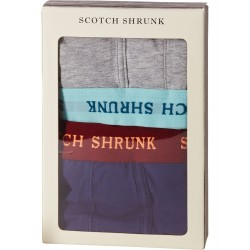 SCOTCH SHRUNK SET BOXER GRIGIO E BLU