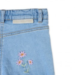 STELLA MCCARTNEY KIDS SHORTS DENIM CON STAMPA