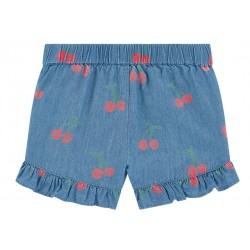 STELLA MCCARTNEY KIDS SHORTS  CHAMBRAY  CILIEGIE