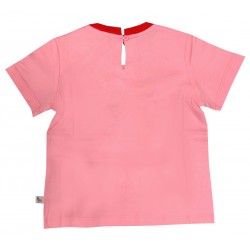 STELLA MCCARTNEY KIDS T-SHIRT  ROSA TUCANO