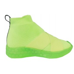 FESSURA KIDS SNEAKERS MEDIA GIALLO FLUO