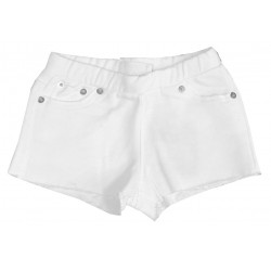 DOUUOD KIDS SHORTS IN FELPA BIANCA