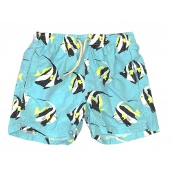 MC2 SAINT BARTH COSTUME TURCHESE PESCI TROPICALI