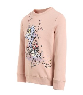 STELLA MCCARTNEY KIDS FELPA ROSA DRAGHETTO