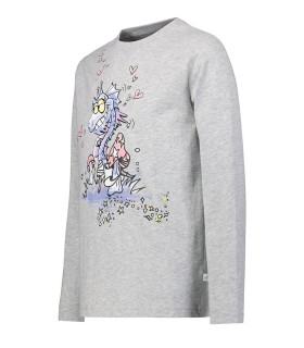 STELLA MCCARTNEY KIDS T-SHIRT GRIGIA DRAGHETTO