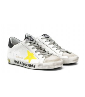 GOLDEN GOOSE DELUXE BRAND SNEAKERS BIANCHE STELLA GIALLA