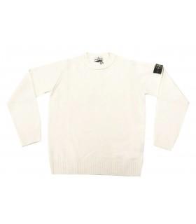 Stone Island junior maglione girocollo panna