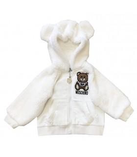 Moschino Kids felpa bianca orsetto