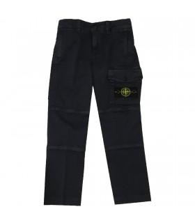 Stone Island junior pantaloni cargo blu navy